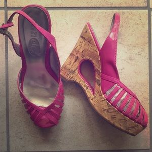 Shoes - Rue 21 hot pink wedges